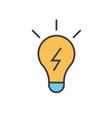 Lamp idea concept line icon editable vector image
