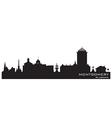 Montgomery Alabama skyline Detailed silhouette vector image