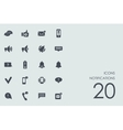 Set of notifications icons vector image