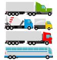 trucks vector image
