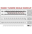 Radio tuner scale dashboard markup vector image vector image