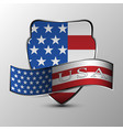 the shield with ribbon vector image