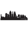Cincinnati Ohio skyline Detailed silhouette vector image