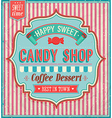 Candy shop vector image