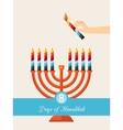 eight days of Hanukkah vector image