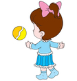 girl with a ball vector image vector image