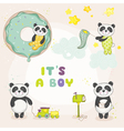 Baby Panda Set - for Baby Shower Cards vector image