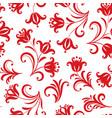 floral pattern ornamental flower seamless vector image