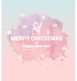 Hand drawn layout series christmas reindeer vector image