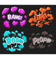 Cartoon Explosion Effects Set vector image