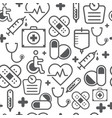 line style icons seamless pattern medicine vector image