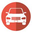 car sedan vehicle transport icon shadow vector image vector image