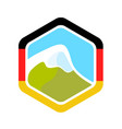 flag of germany and alpine mountain vector image