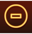 Glowing golden icon Line in a circle vector image vector image
