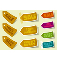 collection of sale stickers vector image vector image