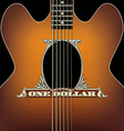 One Dollar Guitar vector image vector image