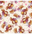 Seamless pattern with ice cream orange berries vector image