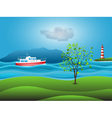 yacht background vector image vector image