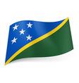 Flags icon solomon islands 01 vector image vector image