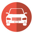 car sedan vehicle transport icon shadow vector image