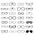 Collection various styles of fashion glasses solid vector image