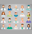 doctor avatars on transparent background vector image