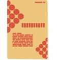 Orange background for brochure or cover vector image