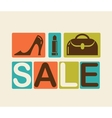 Sale and shopping background vector image