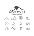 Summer mountain camp badge logo template and vector image
