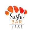 Sushi bar logo design japanese food emblem vector image