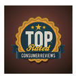top rated badge vector image