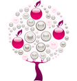 pink tree vector image