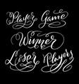 winner hand written typography vector image
