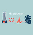 essential or primary hypertension vector image
