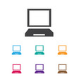 of laptop symbol on display vector image