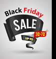 Black friday sale banner ribbon style vector image