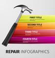 repair infographics vector image