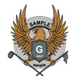 Eagle golf mascot vector image