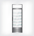 Refrigerator with glass shelves vector image