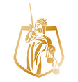 Lady Justice Coat of Arms vector image