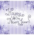 Happy New Year Card vintage design vector image