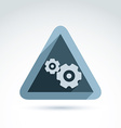 Business theme icon with gears cogs conceptual vector image