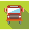 Red cargo truck icon in flat style vector image