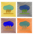 Assembly flat shading style icon wheat cloud vector image