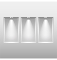 Empty niches in wall with spot lights vector image