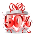 Fifty Percent Discount Gift vector image