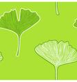 Ginkgo seamless interior wallpaper - fresh green vector image
