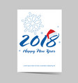 poster of happy new year 2018 vector image