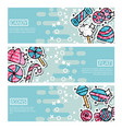 set of horizontal banners about candy vector image