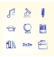 Sketch with icons for education vector image
